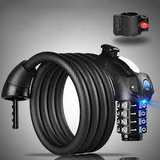 <b>1.5m</b> LED Anti Theft <b>Bike Lock</b> Steel <b>Wire</b> Safe Bicycle <b>Cable</b> Lock ...