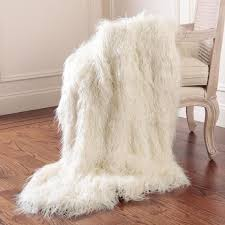 best home fashion faux mongolian lamb fur 60 in l ivory