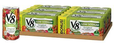 v8 original low sodium 100 vegetable juice 5 5 fl oz can 6 packs