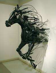 kitchen utensils art. Sayaka Kajita Gans Is A Japanese Artist Who Recycles Discarded Kitchen Utensils, Toys And Metal Items By Transforming Them Into Emotive Sculptures. Utensils Art