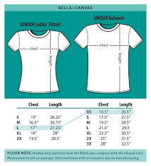 junior size junior size chart