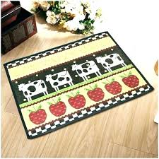 cow kitchen rug bed