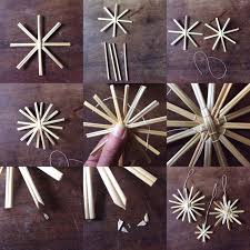 Bastelanleitung Strohstern Weihnachten Yule Crafts