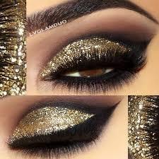 gold glitter eyeshadow makeup