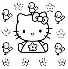 Hello Kitty Printable Coloring Pages Flowers Get Coloring Pages