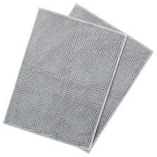 chenille bath rugs bathroom shower mats set of 2 contemporary by inc chenille bath rugs
