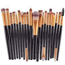 eyebrow brushes kit. 20pcs black style pro makeup brushes set brush kit cosmetic powder blsuh foundation synthetic hair eyebrow u
