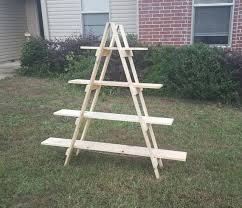 Wooden Ladder Display Stand 100 ft Ladder Shelf Wooden Ladder Craft Fair Display Craft Show 15