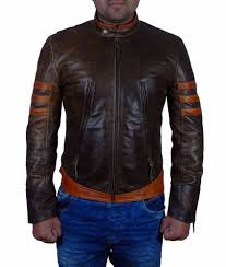 details about x men wolverine origins hugh jackman slim fit biker logan vintage leather jacket