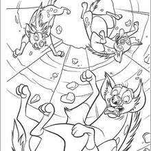 Small Picture Mufasa fights scar coloring pages Hellokidscom