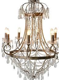 large glass droplets chandelier