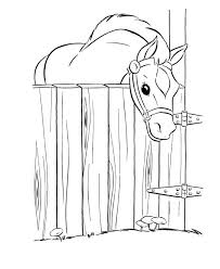 Barn Coloring Pages To Print And Barn Coloring Pages To Print Horse