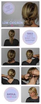 Chingon Hair Style best 25 easy chignon tutorial ideas chignons 3129 by wearticles.com