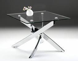 pyrite modern glass end table