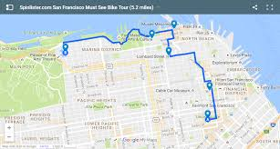 san francisco bike map spinlister's top  bike routes in sf