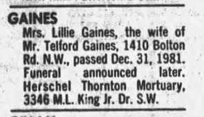 Lillie Gaines - Newspapers.com