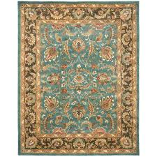 safavieh heritage blue brown 6 ft x 9 ft area rug