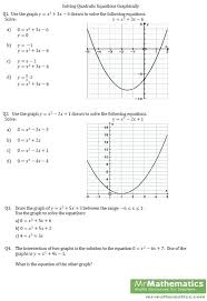 solving quadratic equations factoring worksheet kuta by graphing answers the best worksheets full size