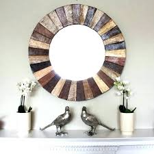rustic round mirror mirrors wall