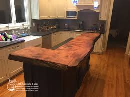 redwood live edge wood slab natural wood countertop