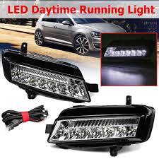 2015 Vw Gti Daytime Running Lights For Vw Golf 7 Mk7 2014 2015 2016 2017 1 Pair Led Drl Daytime Running Lights Fog Light Fog Lamp Car Styling Headlights Head Lamp