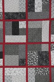 Yellow Brick Road Quilt Pattern Inspiration Quiltmakers Journey BlackWhiteRed Modified Yellow Brick Road