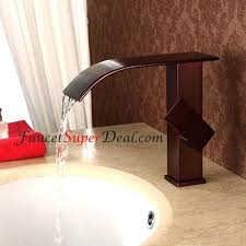 bronze waterfall bathroom faucet antique oil rubbed bronze finish waterfall bathroom sink faucets oil rubbed bronze waterfall tub faucet wall mount
