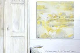 gray canvas art print art yellow grey abstract painting modern coastal canvas art white gold wall on large white and gold wall art with gray canvas art print art yellow grey abstract painting modern