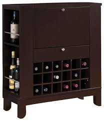 dark brown fold down front shelves wine rack wooden bar cabinet counter pub unit contemporary wine and bar cabinets by flatfair