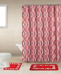 home dynamix bath boutique shower curtain and bath rug set bq01 helix red bath boutique collection shower accessories set shower curtain sets free