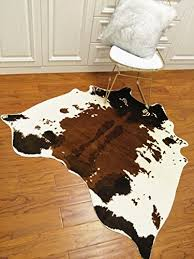 musthome soft faux cowhide rug 4 5x4 4 feet cow print rug perfect throw rug