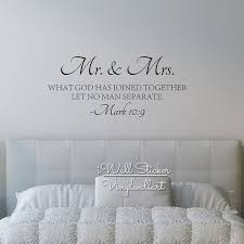 Quotes wall stickers Mr Mrs Quote Wall Sticker Bible Love Quotes Wall Decal High 90