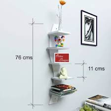 floating mdf 5 tier wall shelves white best s in india rediff ping