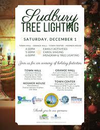 Tree Lighting Reading Ma Sudbury Historical Society