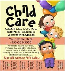 Child Care Or Daycare Flyer Template Free Child Care