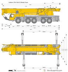 Liebherr Ltm 1160 5 2 Mobile Crane Vector Drawing