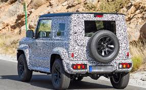 2018 suzuki cars. interesting suzuki 2018 suzuki jimny spy shot with cars