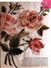 Вышивка гладью с розами
