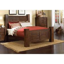 dark pine california king post bed