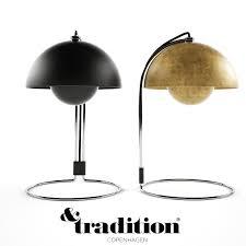 tradition flower pot table lamp 3d model max obj mtl fbx mat 1