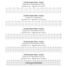 Aida 10 12 14 16 And 18 Cross Stitch Graph Paper Grid Etsy