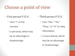 Point of View  First  Second   Third Person   Video   Lesson