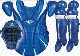 Details About Easton Womens Intermediate Fastpitch Softball Catchers Gear Set Royal New