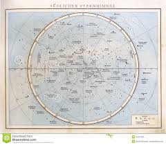 Southern Sky Star Chart Vintage Star Chart 1890 Stock Photo Image Of Stars 39451836