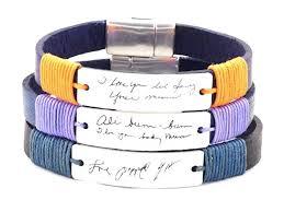 custom handwriting bracelet handwriting jewelry signature bracelet memorial jewelry personalized aluminum jewelry end bracelet