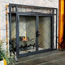 awesome fireplace screens with doors