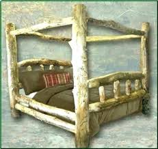 Log Bed Frame Queen Hardware Size Plans King Full Bedrooms Scenic ...