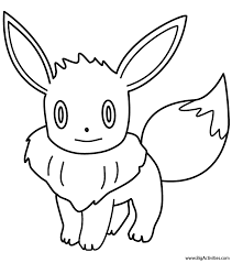 Small Picture Eevee Coloring Page Pokemon