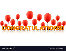 Congratulations Poster Congratulations Banner With Red Balloons