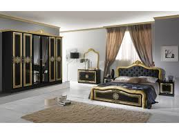 Schlichter Schlafzimmer Set Lazise 6 Teilig Schwarzgold Schrank